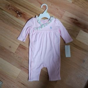 Pink Stripe Girls Sleeper Ralph Lauren